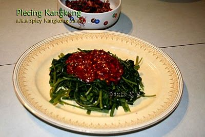 Food Heritage: Spicy Water Spinach (Kangkong) Salad a.k.a Plecing Kangkung