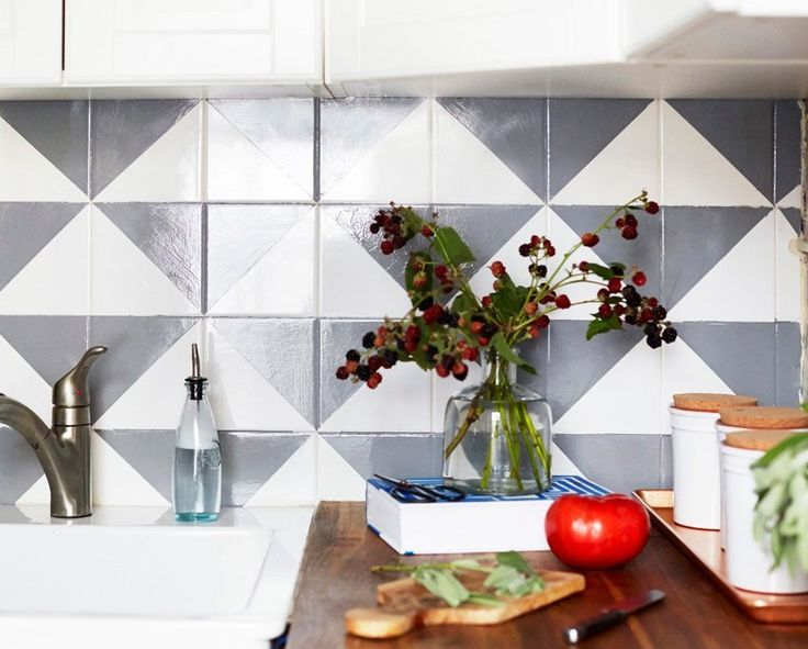 The Cheap Way to Make a Tile Backsplash Look Really Expensive