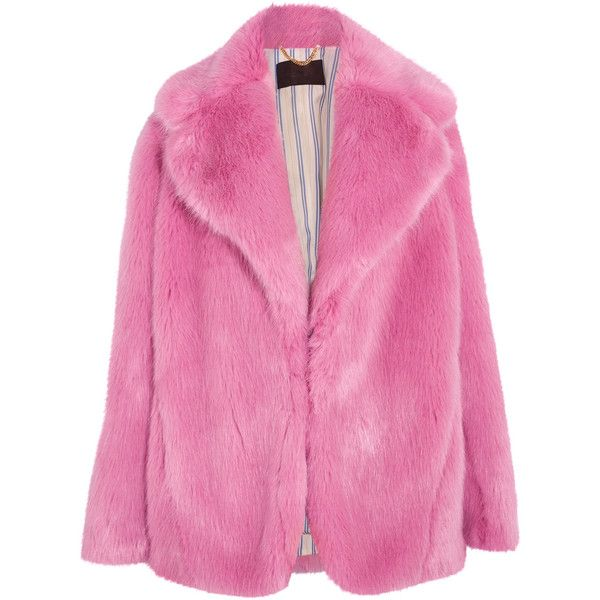 J.Crew Madison faux fur coat ($440) ❤ liked on Polyvore featuring outerwear, coats, pink, j.crew coats, ruched-sleeve blazer, pink faux fur coat, blazer jacket and fuzzy coat