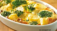 Ingrédients :   400 g de brocolis  600 g de pommes de terre  200 g de parmesan  35 g de beurre  10 cl de crème fraîche épaisse  1 pincée...