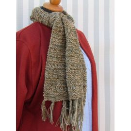 Handknitted Scarf - Tricolor