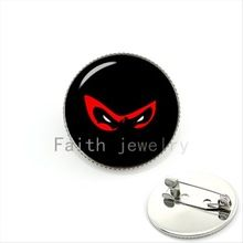 Leuke karakter cartoon bijoux broche sieraden Ninja Japanse film pins glas cabochon verjaardagscadeau voor movie fans KC469(China (Mainland))