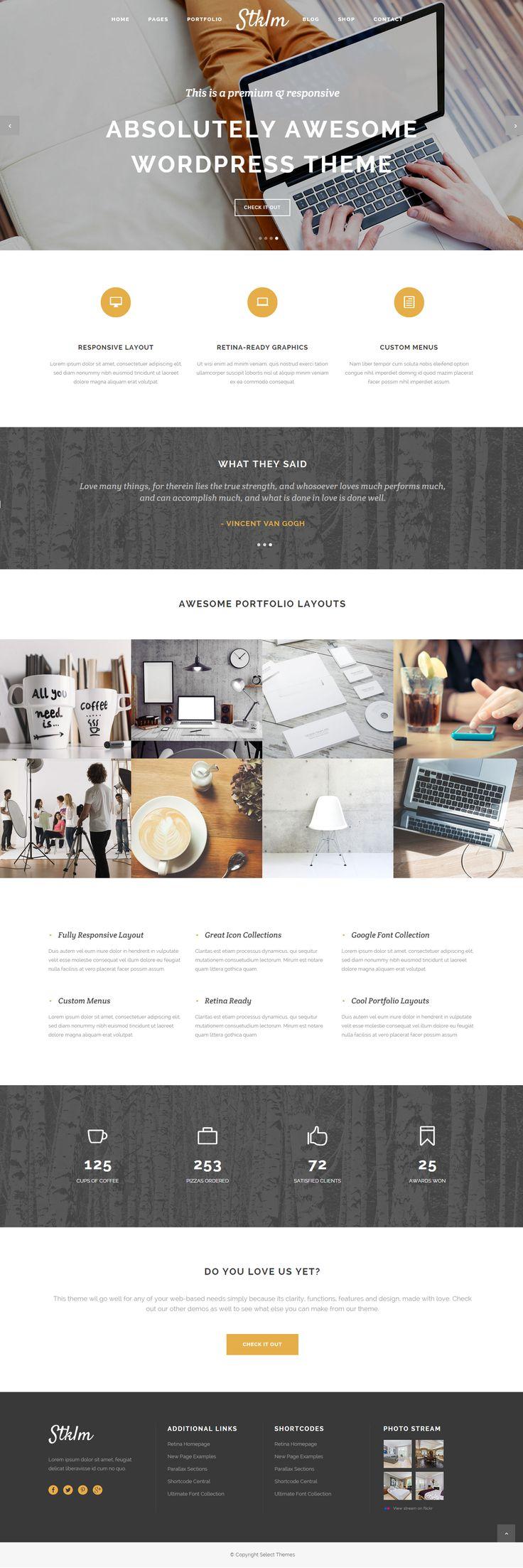 Stockholm - A Genuinely Multi-Concept Theme #web #design