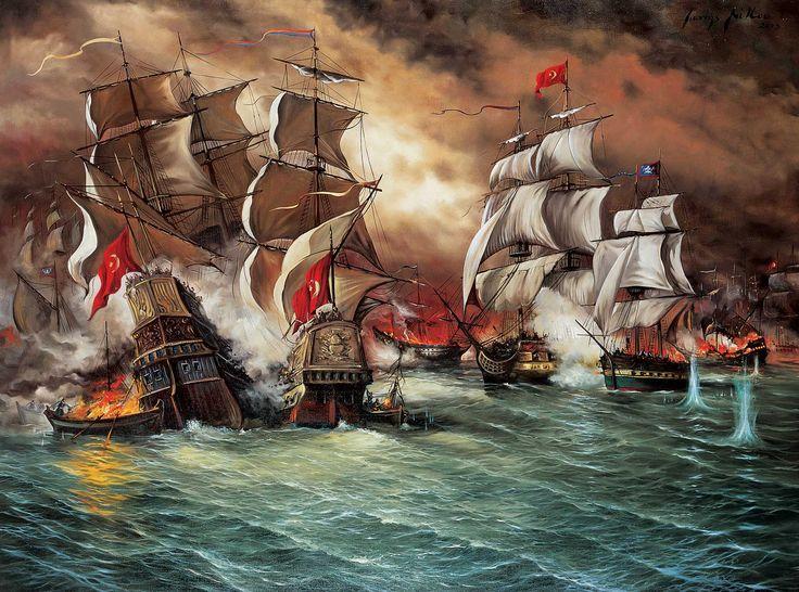 """Γιάννης Νίκου: """"Τα μπουρλοτιέρικα"""" - Yannis Nikou: The fire ships of the Hellenic Revolution of 1821"""