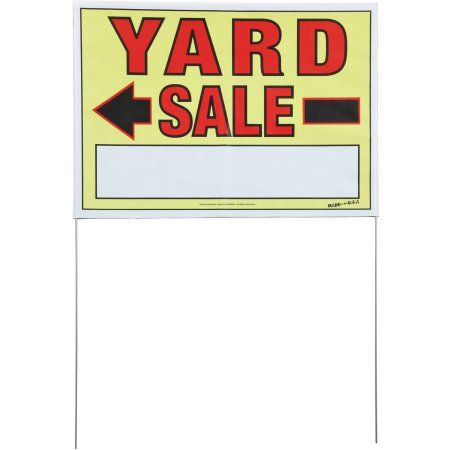 Sunburst Systems 2-Sided Yard Sale Sign with Metal U-Stake, 10 Pack, Multicolor
