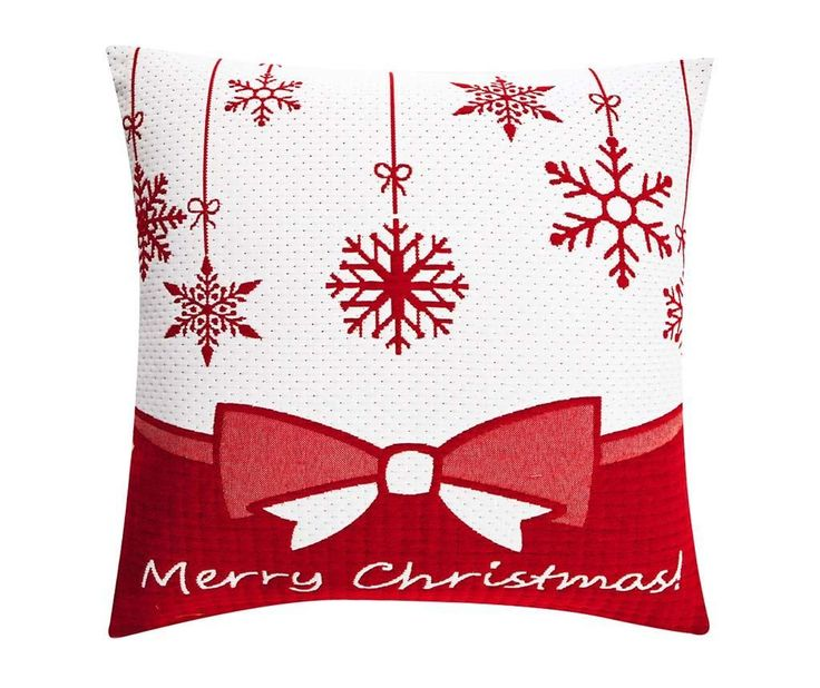 Merry Christmas Bow White Párnahuzat 50x50 cm - Vivre