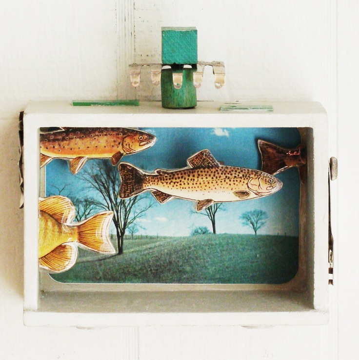 1000 images about shadowboxes on pinterest fly fishing for Fly fishing decor