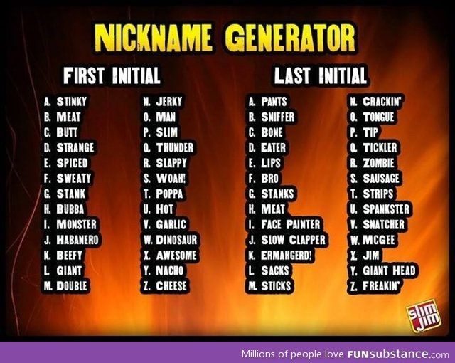 real name to nickname generator