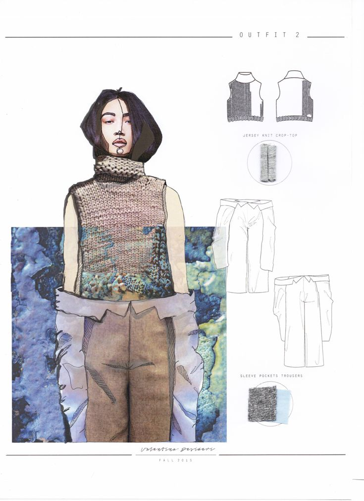 Fashion Sketchbook - fashion design drawings; fashion collage; fashion portfolio // Valentina Desideri