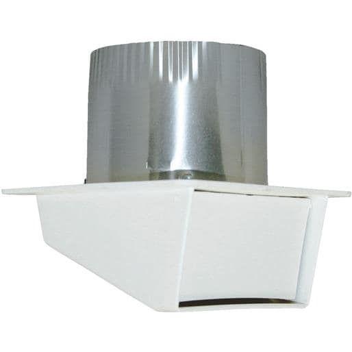 Builder's Best 4 Plastic Eave Vent 111804 Unit: Each, Silver aluminum