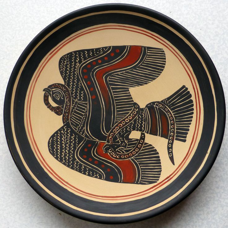 #Eagle and #snake . Copy from #greekpottery, #blackfigures, #GettyMuseum.