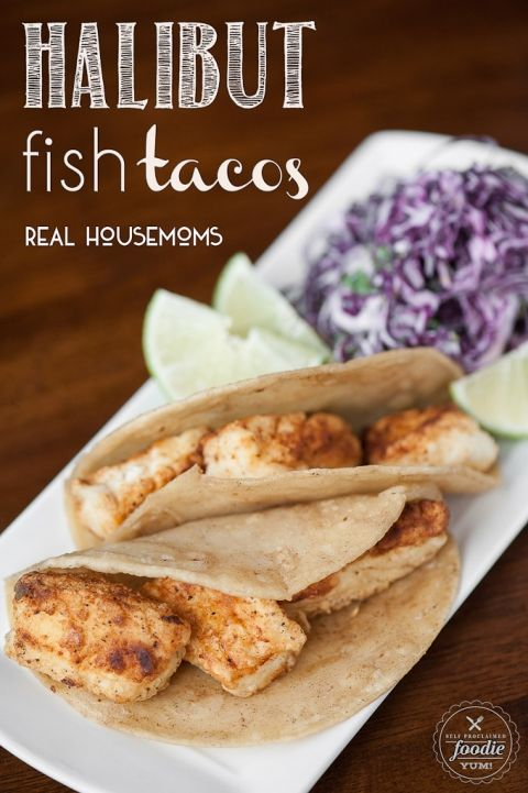 Halibut Fish Tacos are easy to make and can be topped with a variety of yummy ingredients or sides or served plain for picky eaters!