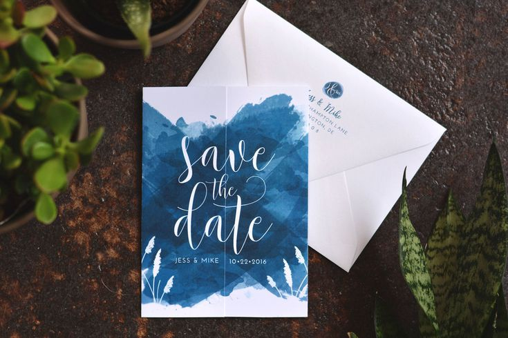 Pacific Blue Save the Date   Sea blue, Beachy, Wedding, Rehoboth Beach, Delaware