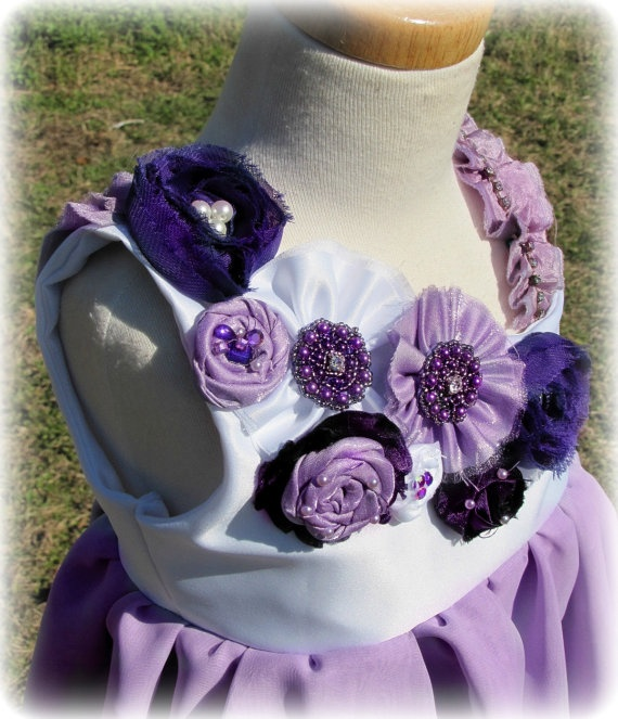 this has to be sydney's dress... Purple Flower Girl Dress