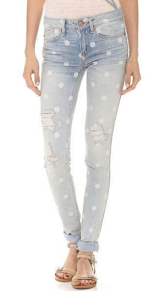 Marc by Marc Jacobs Rolled Slim Jeans  # colour # lily dot