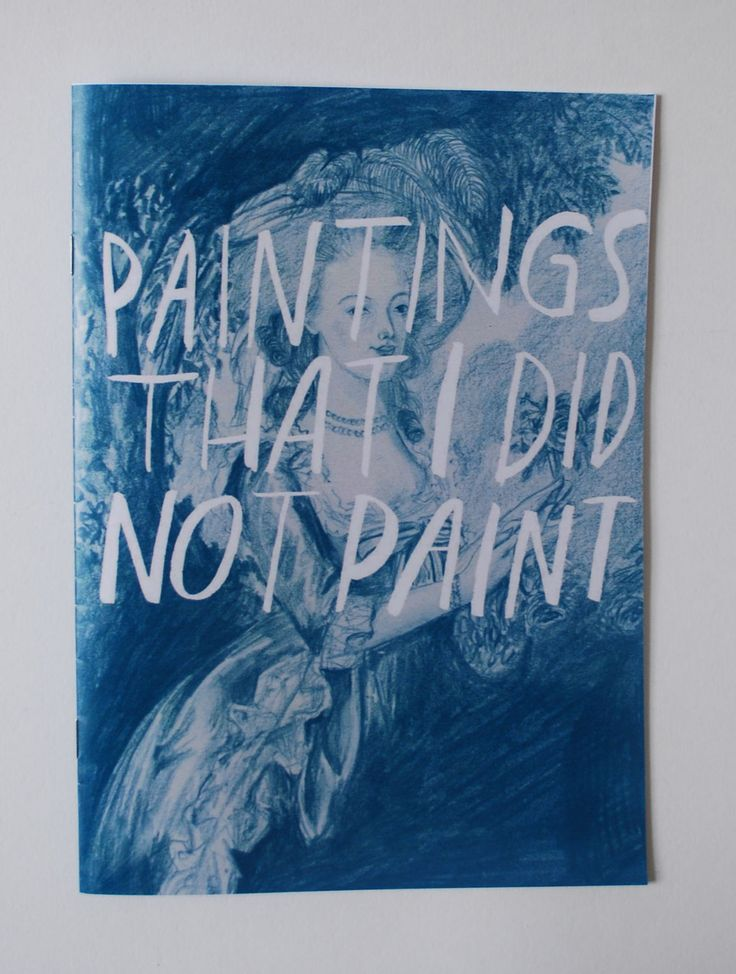 Paintings that I did not paint-Zine. £4,00, via Etsy.