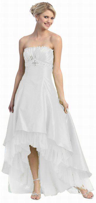 Strapless High Low Wedding Dress 85