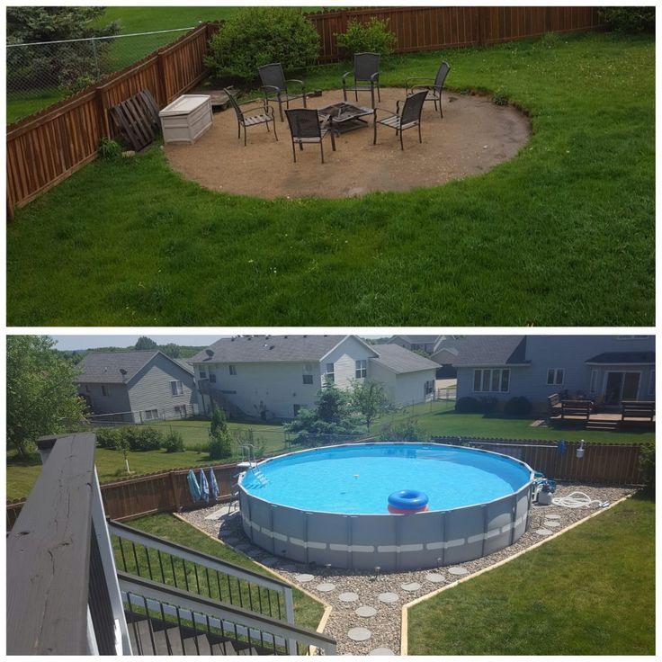 intex pool landscaping