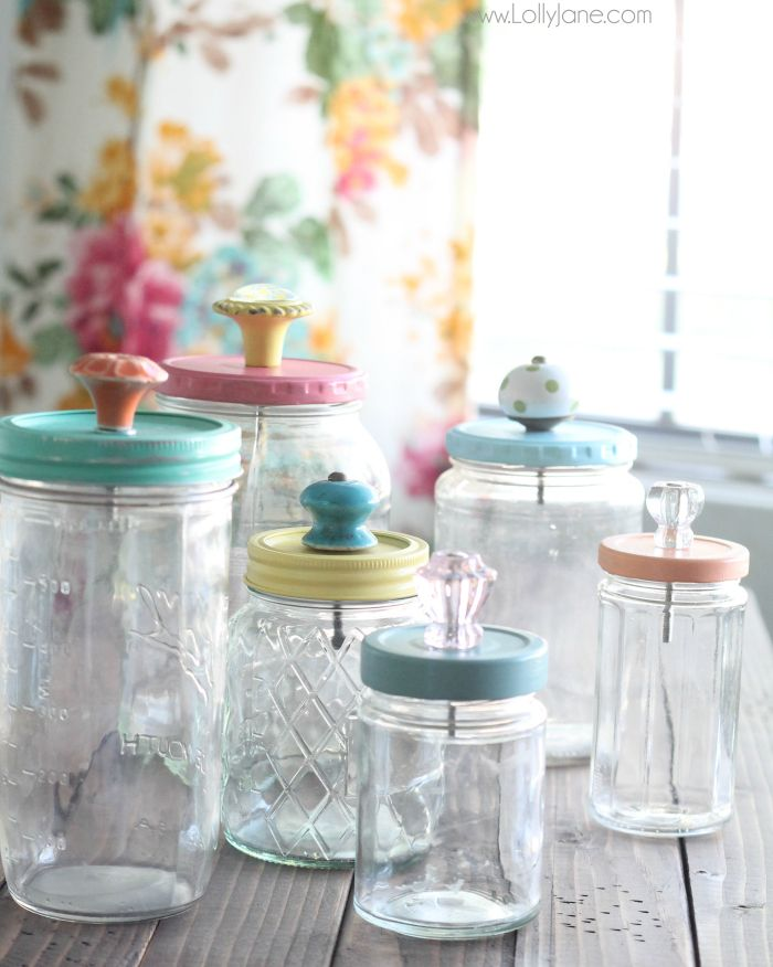 Lollyjane Cute Old Jars - An Eclectic Office or Craft Room - 15 Great Examples of Fun and Vintage Office Organizing Ideas... I hope I am not the only person in the world who has an office slash craft room! In my world business and art and storage and sales and organizing all have to live together in one beautiful jumble of coolness.