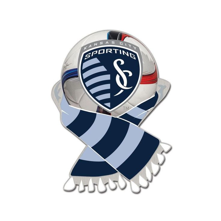 MLS Sporting Kansas City Scarf and Ball Enamel Pin