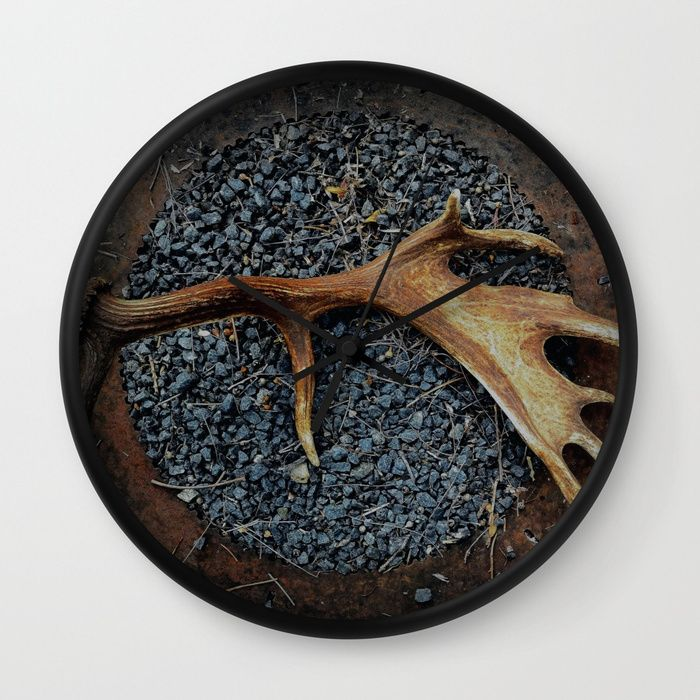 #antlers #photography #clock #homedecor #rustic #society6