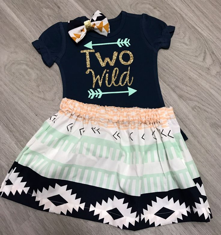 Two Wild shirt//Wild birthday shirt//2nd birthday shirt//Two birthday Outfit//Aztec print outfit// by ClairesCreations15 on Etsy