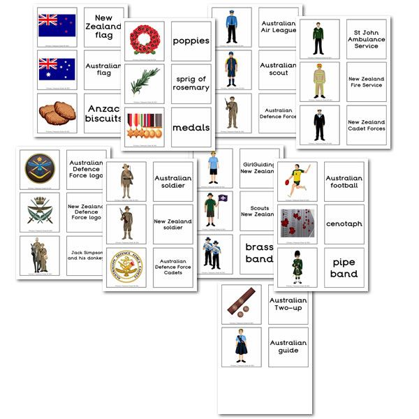 Anzac Day Matching Cards