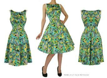 hearts roses new green retro floral vintage 50s
