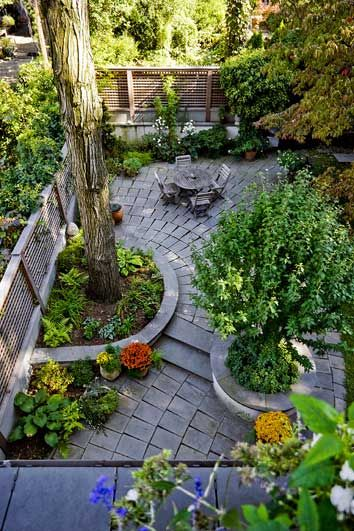 Townhouse backyard - nicely done