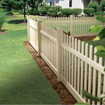 w sand vinyl unassembled fence panel