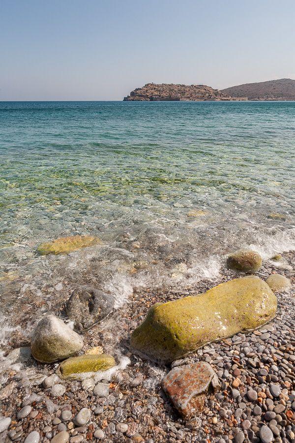 Crystal-clear waters in Plaka, Crete, Greece