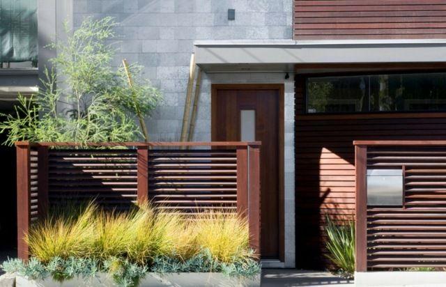 holz garten sichtschutz zaun moderne architektur | garten und haus, Gartenschlauch