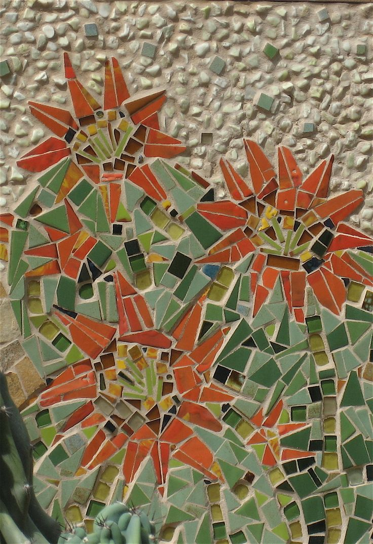 241 best mosaic inspiration - flowers images on pinterest | mosaic