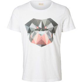 Selected Regular-Fit- T-Shirt, weiß