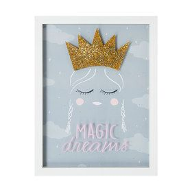 3D Framed Print - 33cm x 43cm, Crown