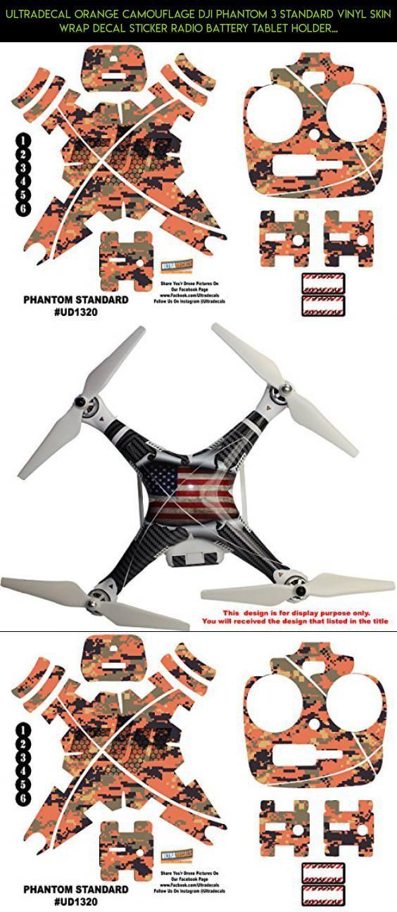 Ultradecal Orange Camouflage DJI Phantom 3 Standard Vinyl Skin Wrap Decal Sticker Radio Battery Tablet Holder Quadcopter #drone #fpv #parts #phantom #dji #wrap #tech #kit #vinyl #camera #technology #racing #products #3 #plans #gadgets #standard #shopping