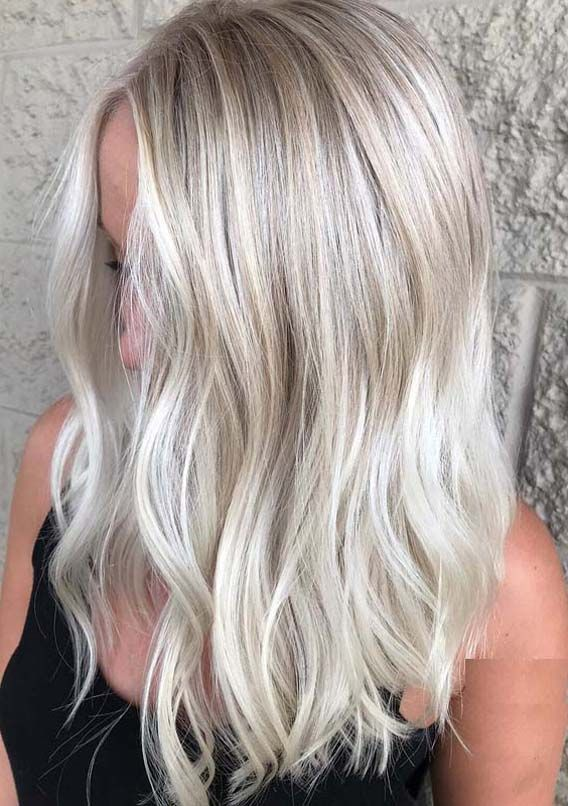 gorgeous bright blonde lob hairstyles
