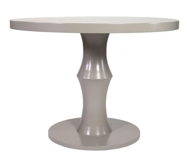 Contemporary gray dining table. Brand new floor sample.