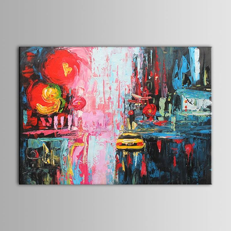 Hand Painted Abstract Frameless Knife Painting on Canvas (DK-JX-YH021)