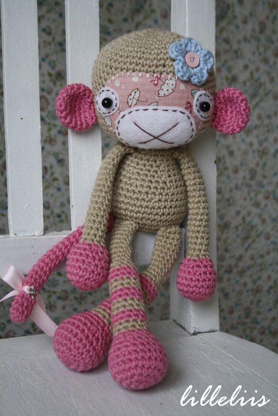 MUSTER Affe Mädchen häkeln amigurumi Spielzeug von lilleliis på Etsy