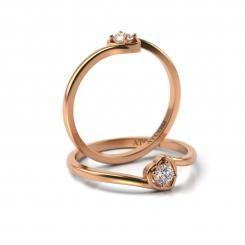 Inel de logodna cu diamant RAMON din aur roz