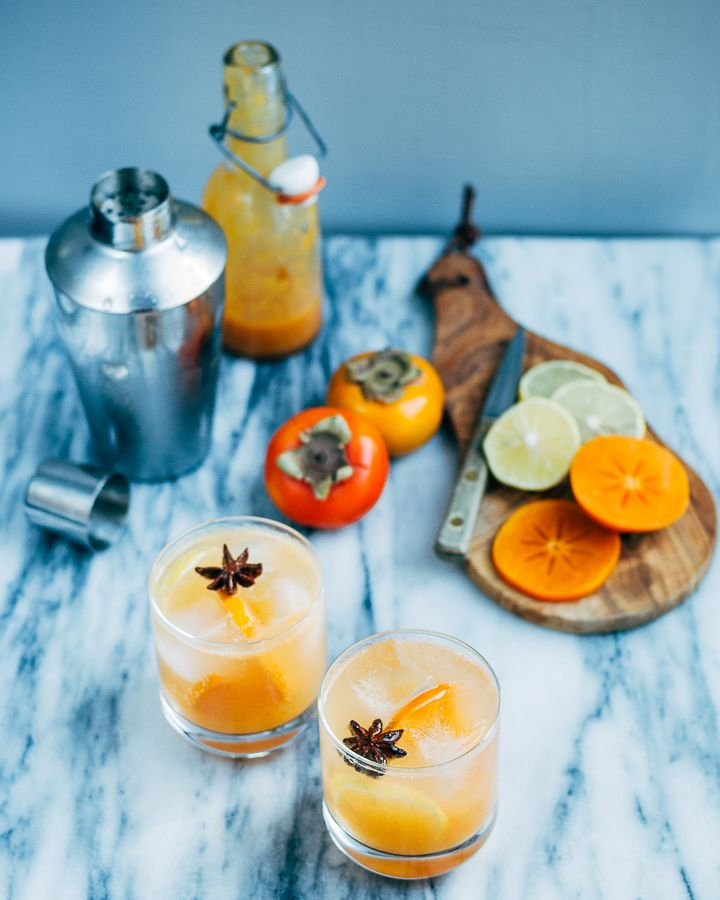 persimmon collins cocktails // @brooklynsupper
