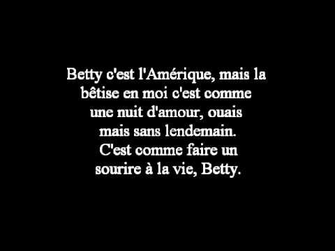 Saez - Betty (Paroles)