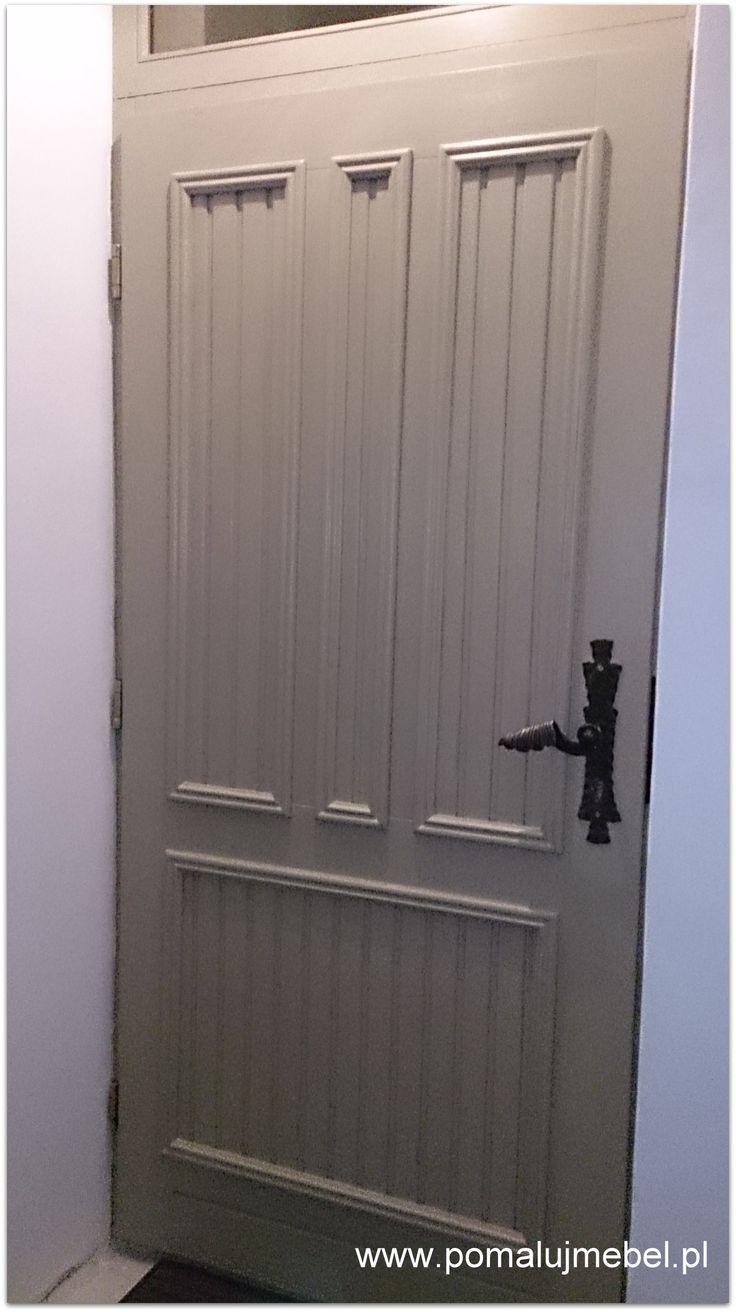 drzwi  malowane kolorem  Linen, lakierowane, Autentico Chalk Paint.