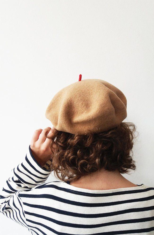 Camel cap, musthave, red cabillou (béret camel) Le béret francais, made in France