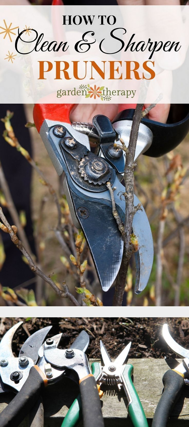 Forget those rusty, dirty pruners that stick and don't make clean cuts - these simple steps will make them new again! #ad