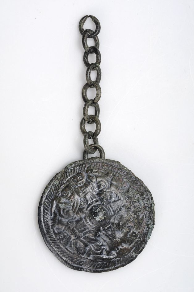 Viking pendant with chain 'We call them Vikings'....Museum of Sweden