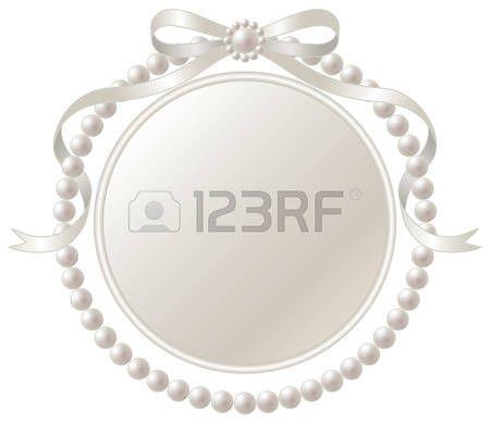 cornici romantiche: Telaio e perla nastro d'argento