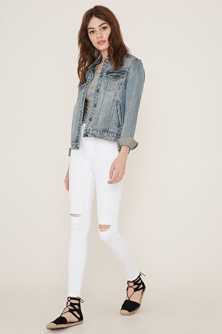 Distressed Skinny Jeans | Forever 21 - 2000185479