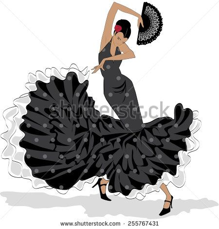 Google images flamenco dress silhouettes